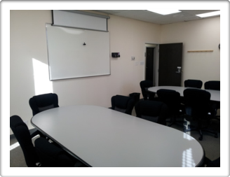 The Atrium Office Suites Conference Room with white board